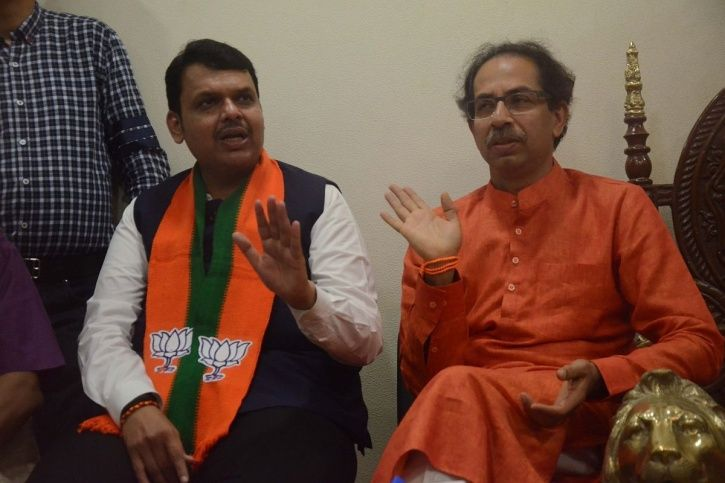 BJP and Shiv Sena tussle for Maharashtra Chief Minister seat.