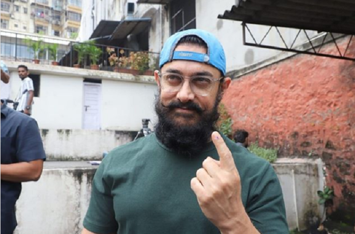 Bollywood stars vote in Assembly elections 2019: Aamir Khan