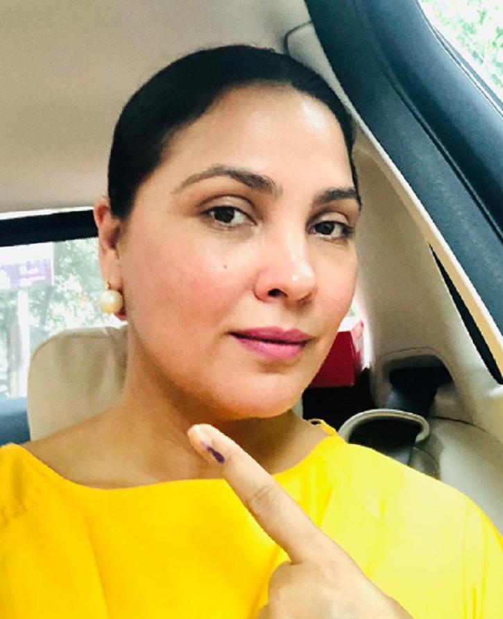 Bollywood stars vote in Assembly elections 2019: Lara Dutta.