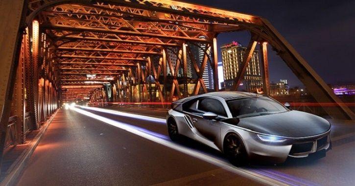 Chinese Solar Car, Solar Powered Car, Hanergy Solar Car, Joylong Solar Car, Solar Panels on Car, Ele