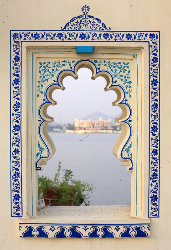 cities captured through open windows and doors