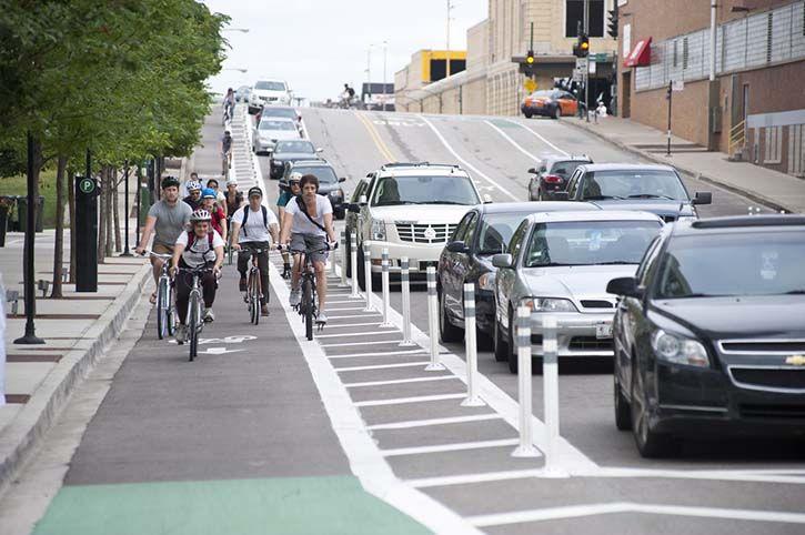 Cycle lane traffic