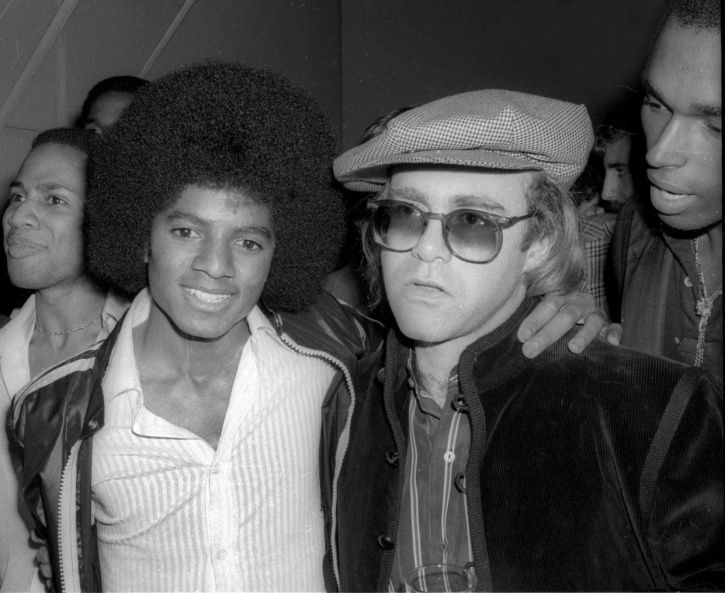 Elton John with Michael Jackson.