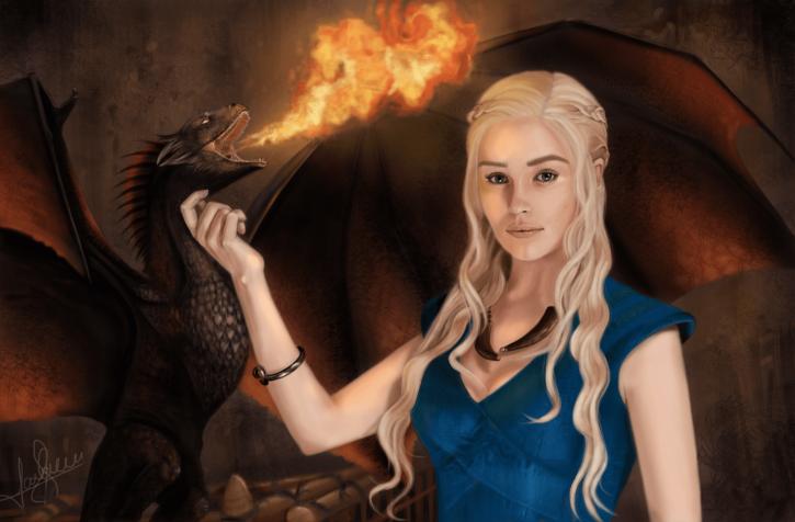 Emilia Clarke aka Khaleesi.