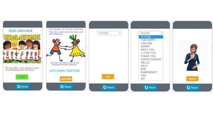 Hirranyaa Rajani sign language app