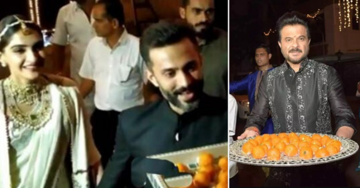 In A Sweet Gesture, Sonam & Anil Kapoor Treat Paparazzi With Laddoos At Diwali Party, Win Hearts
