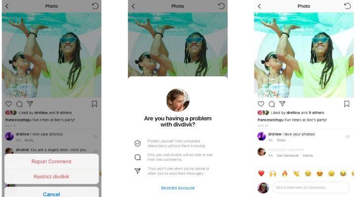 Instagram restrict abuse