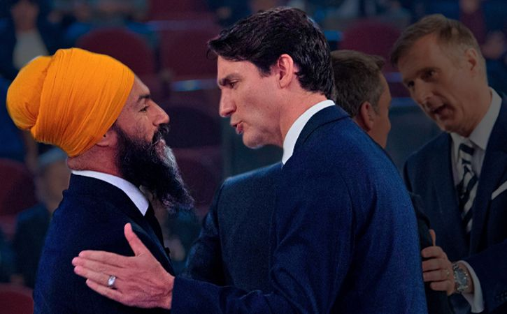 Jagmeet Singh Justin Trudeau