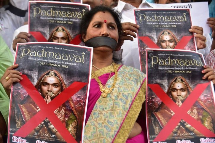 Karni Sena protests against Padmaavat.