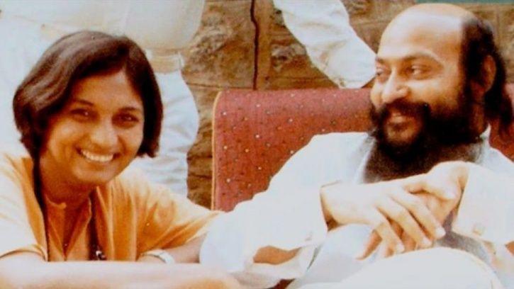 Ma Anand Sheela with godman Rajneesh aka Bhagwan Osho.