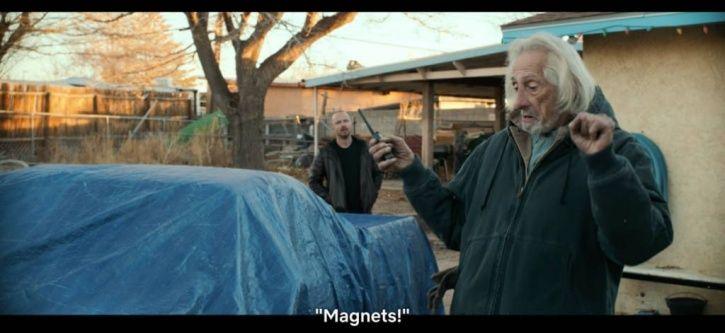 Magnets in El Camino A Breaking Bad movie.