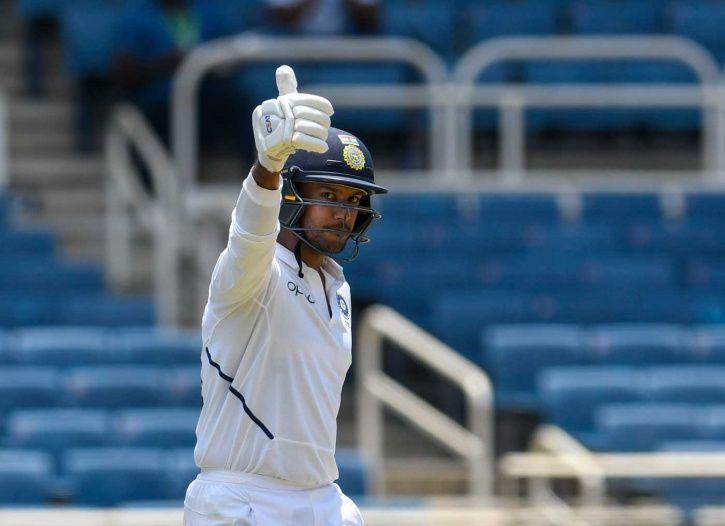 Mayank Agarwal hit his first Test ton