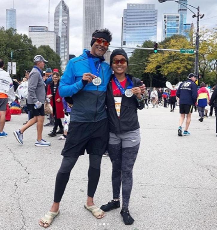 Milind Soman Cheers For Wife Ankita Konwar For Running 1st World Major Marathon