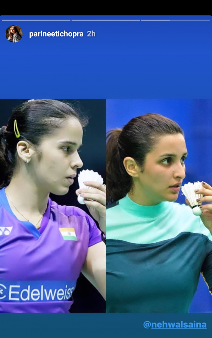 Parineeti Strikes Saina Nehwal's Iconic Pose, Ace Shuttler Wishes Her All The Best For Biopic