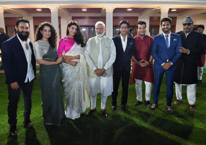 PM Modi Meets Film Stars To Mark Gandhi