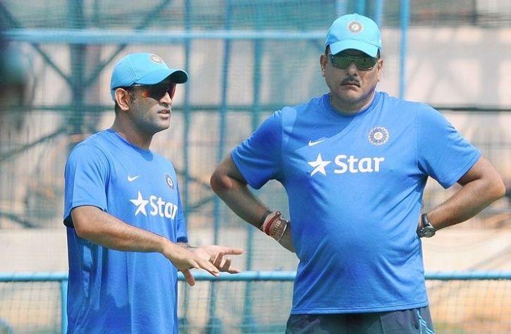 Ravi Shastri and dhoni