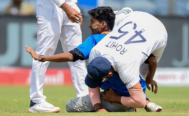 Rohit Sharma Loses Balance After Fan Tries To Touch His Feet