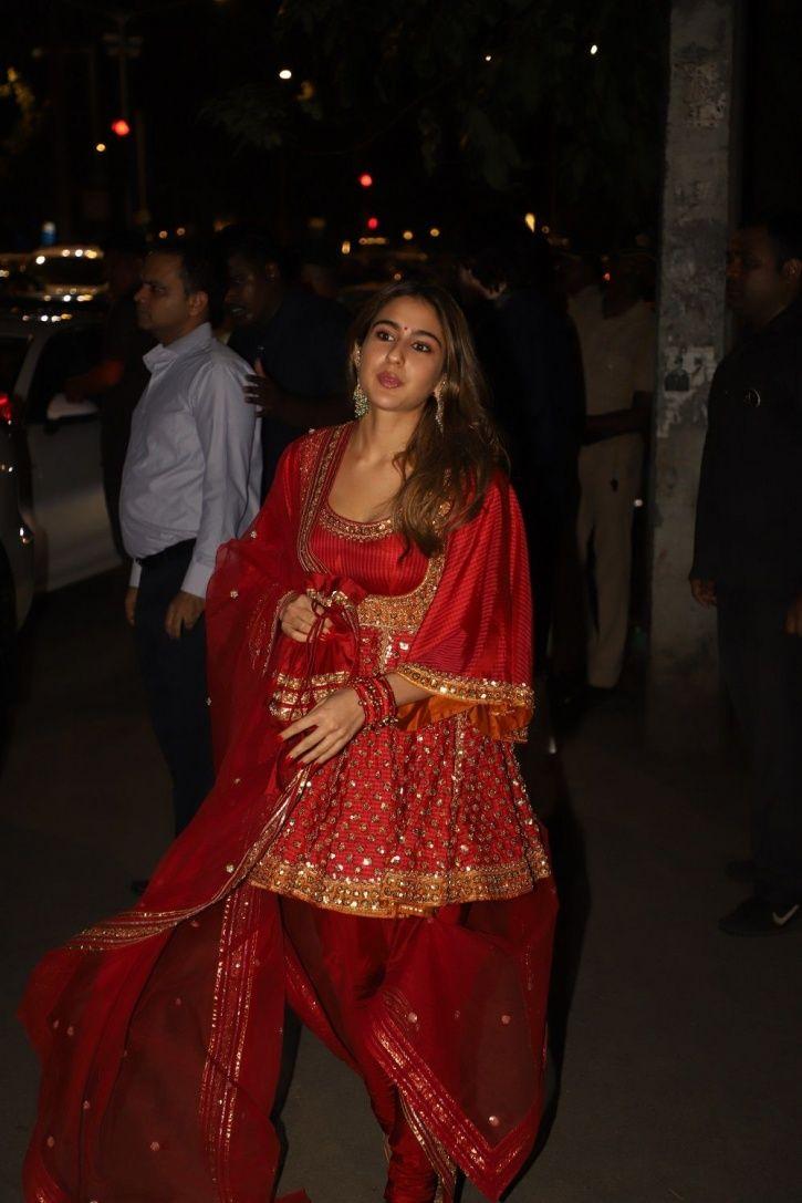 Sara Ali Khan at Bachchans Diwali party.
