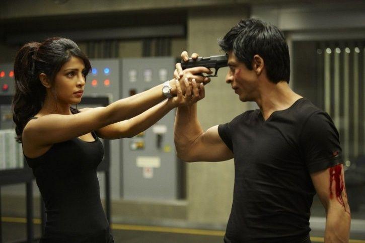 Shah Rukh Khan and Priyanka Chopra in Don.