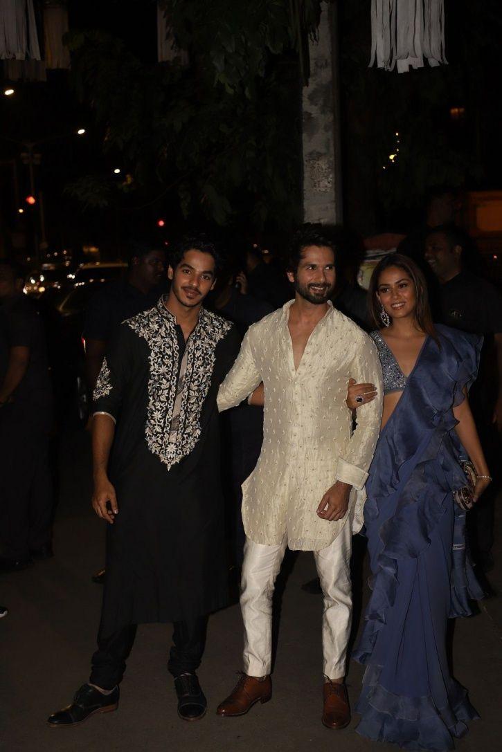 Shahid Kapoor and Mira Rajput at Bachchans Diwali party.