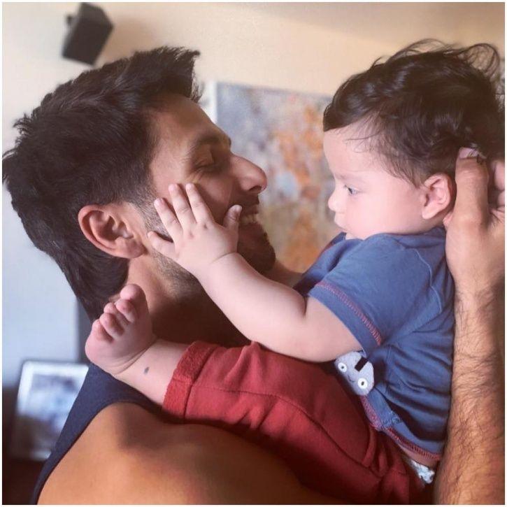 Shahid Kapoor with son Zain Kapoor.
