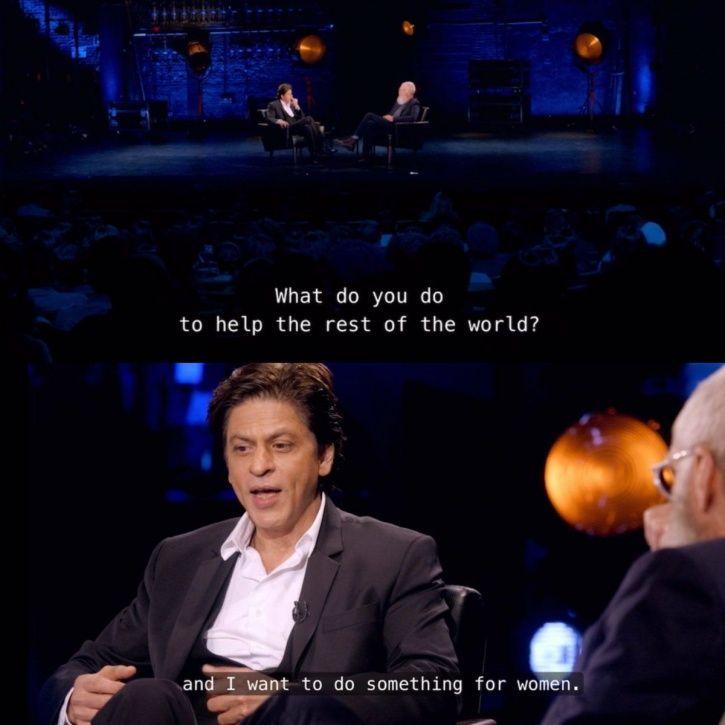 SRK David Letterman