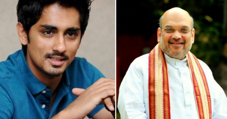 Tamil Actor Siddharth Slams Union Home Minister Amit Shah Over His NRC Pitch In West Bengal