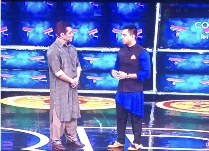 Tehseen Poonawalla with Salman Khan on Bigg Boss 13.