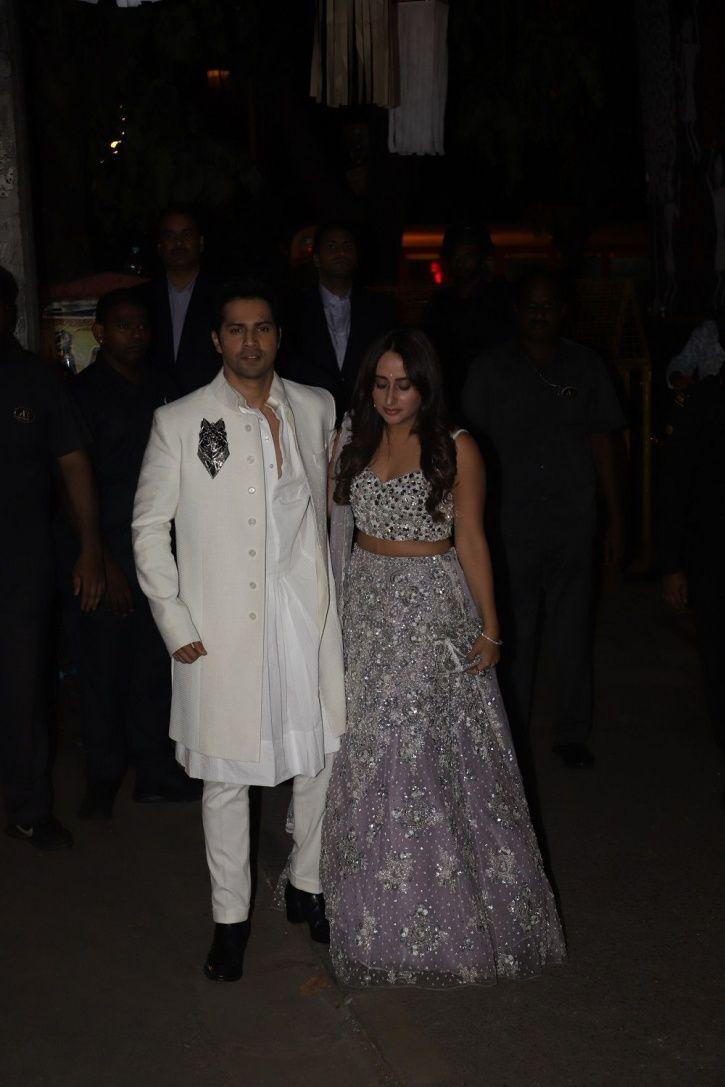 Varun Dhawan at Bachchans Diwali party,