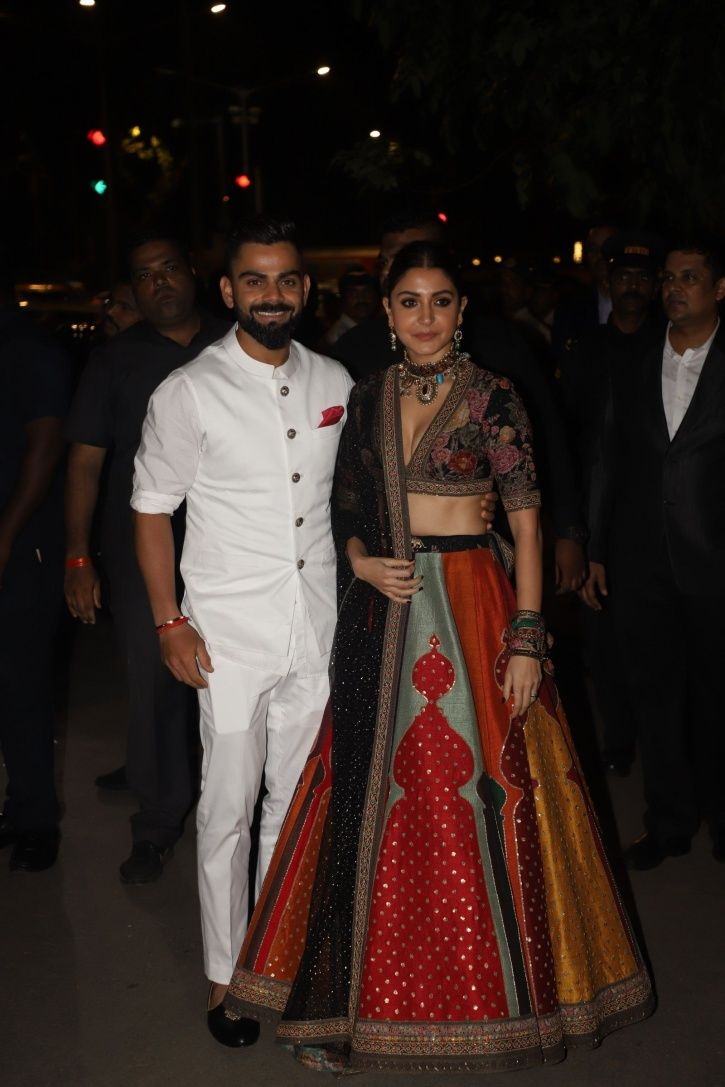 Virat Kohli and Anushka Sharma at Bachchans Diwali party