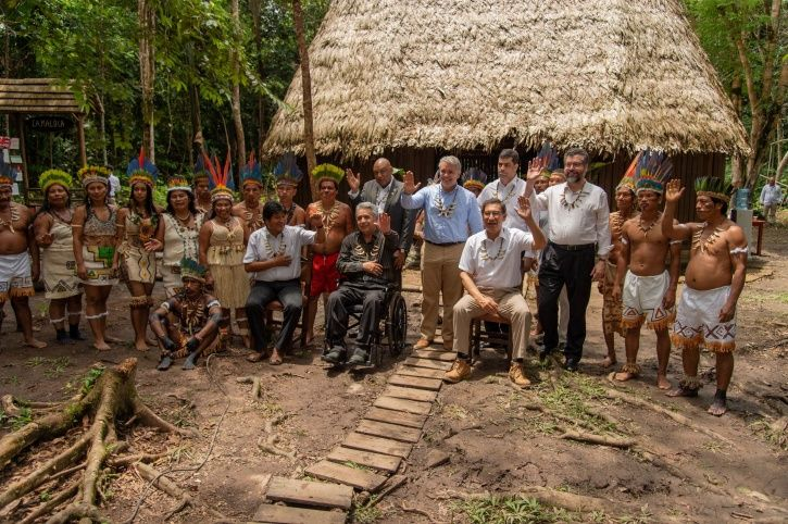 Amazon Nations Hold Meeting With Tribes For Forest Protection In An Indigenous Huts Made Of Wood