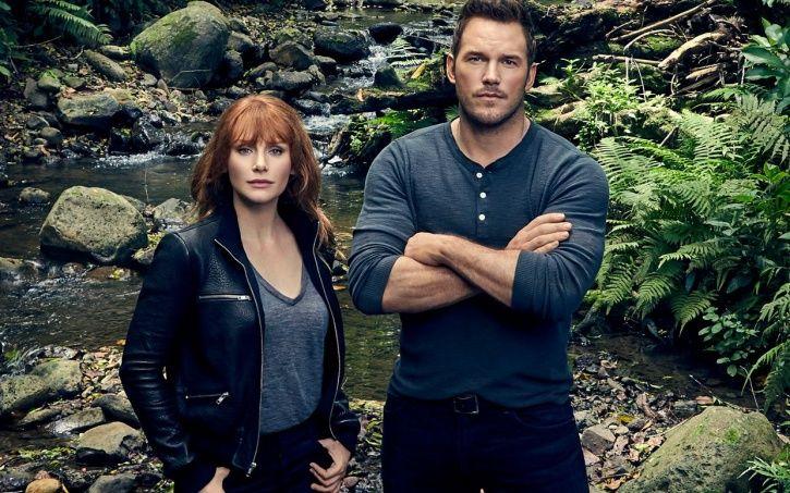 Bryce Dallas Howard and Chris Pratt in Jurassic World 3.