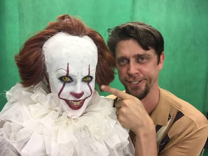 Pennywise with It director Andy Muschietti.