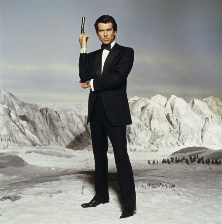 Pierce Brosnan as James Bond.