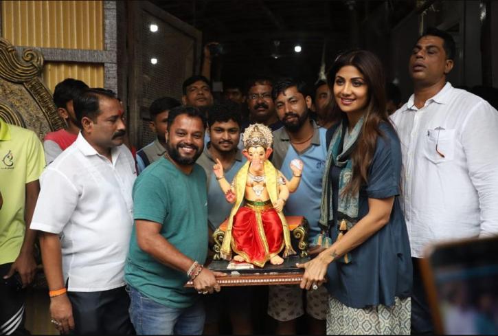 Shilpa Shetty celebrates Ganesh Chaturthi.