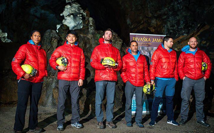 six astronauts going deep underground