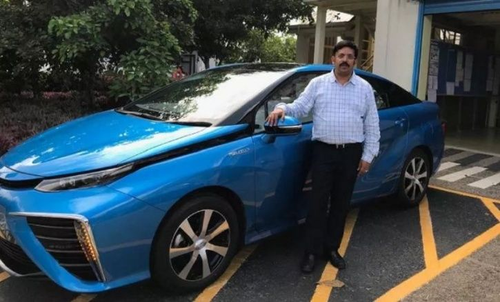 Toyota S Mirai Fuel Cell Car Seen In India All Details Here