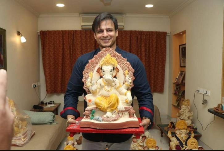 Vivek Oberoi celebrates Ganesh Chaturthi.