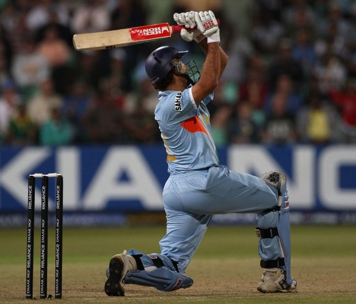 Yuvraj Sngh hit six sixes in an over