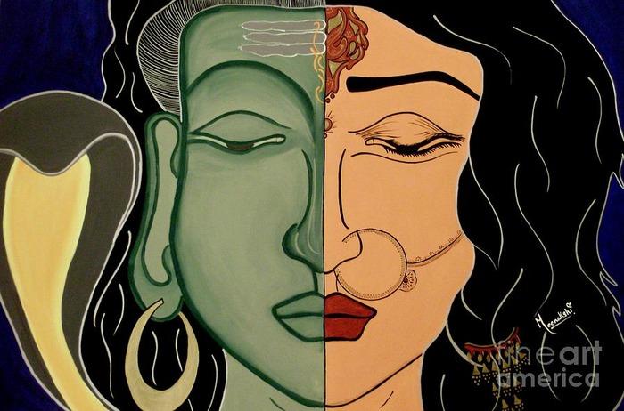 Shiva And Shakti, Maan Durga And Lord Shiva, Nine Forms Of Goddess