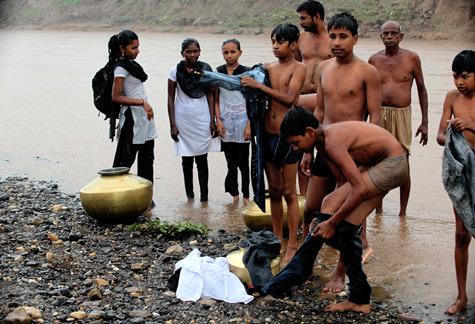 'Children Swim To Get To School'