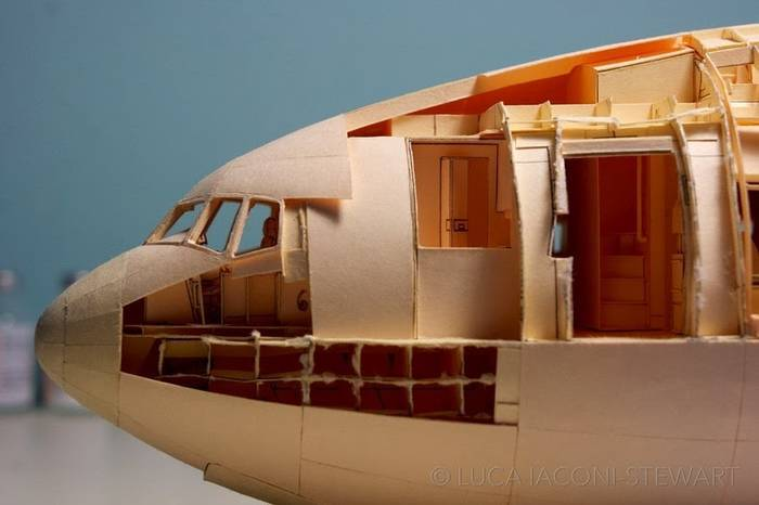 1:60-Scale Boeing 777 Built Entirely From Paper