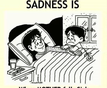 Sadness Is...When Mother Falls Sick..:(( ;(