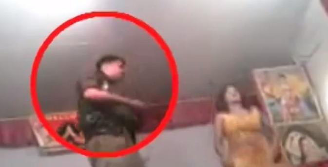SHAMEFUL: Drunk UP Cop Caught Dancing On Duty!