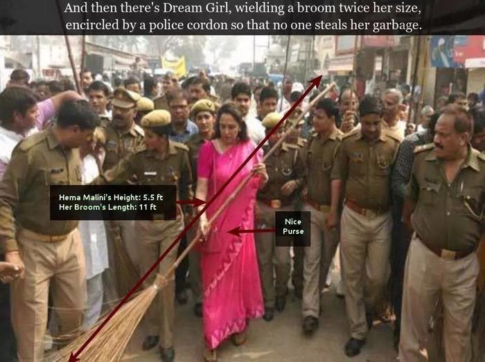 Hema Malini Makes 'swachh Bharat Abhiyan' A Joke!