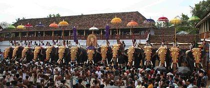 Poornathrayeesa Temple Festival 2014
