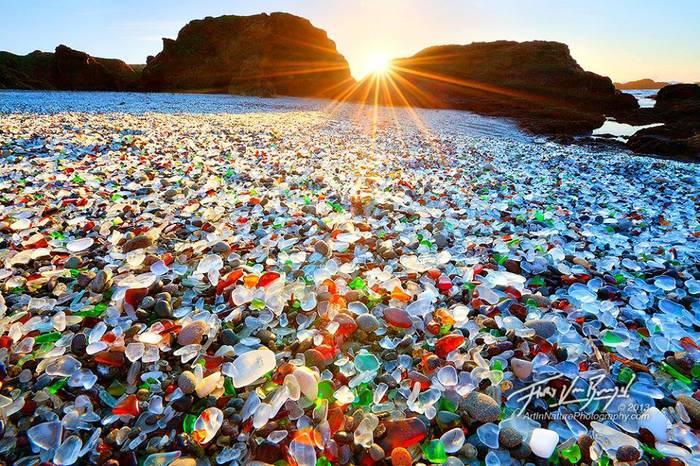 Most Bizarre Beaches Across The World - Glass Beach