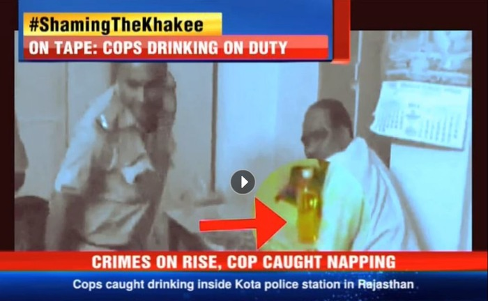 Shameful! Cops Drinking, Napping On DUTY!
