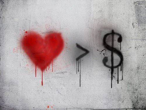 Money Is More Important Than Love...