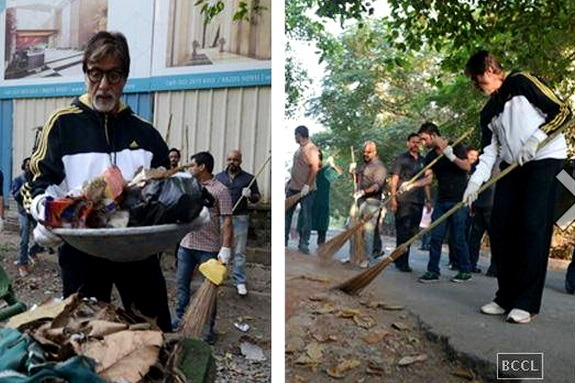 Amitabh Bachchan Joins Modi's 'Swachh Abhiyaan'